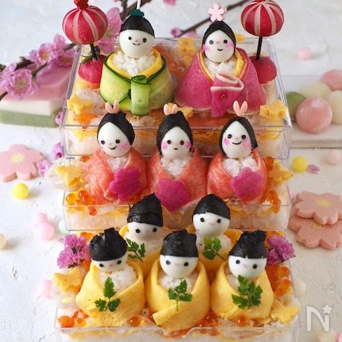 可愛い♥︎雛壇ちらし寿司【ひな祭り・雛人形寿司・桃の節句】