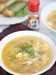 麻婆春雨キャベツの卵スープ
