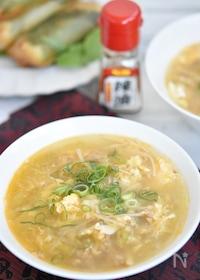 『麻婆春雨キャベツの卵スープ』