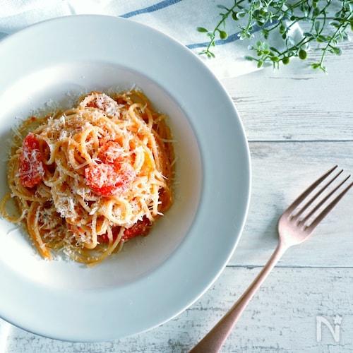 【トマト缶不要】ずぼらさんのトマトパスタ