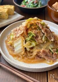 『甘辛味が人気♪豚バラと白菜の旨煮』