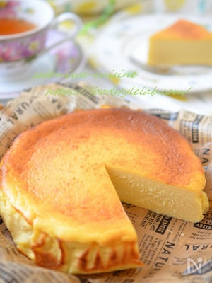低カロリー♬バスク風チーズケーキ(普段のお気軽スイーツ♪)