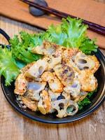 シャキシャキ食感の「海老マヨ蓮根炒め」
