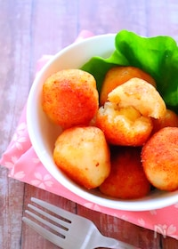 『もちもち明太ポテトボールの作り方#じゃがいもレシピ#おつまみ』