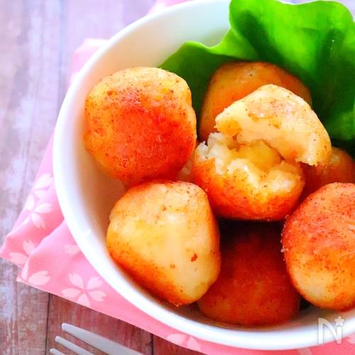 もちもち明太ポテトボールの作り方#じゃがいもレシピ#おつまみ