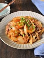 里芋と豚肉のしょうが醤油炒め
