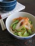 簡単和総菜☆キャベツとちくわの塩昆布和え