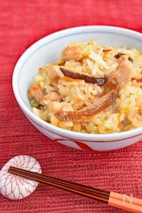 切り餅と米の中華風おこわ