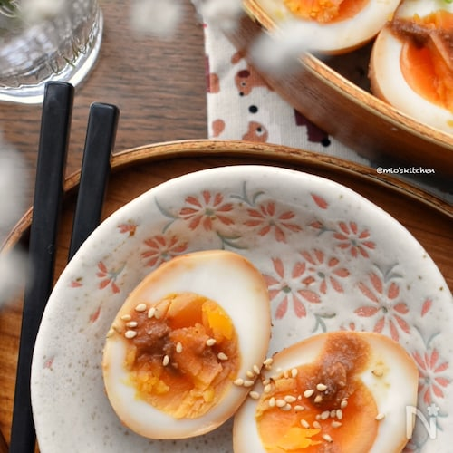 隠し味に甜麺醤♡旨味たっぷり甘味噌味玉♡