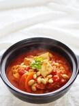 白菜と厚揚げのトマトビーンズ