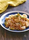 豚バラと長芋の甘酢ねぎ炒め