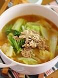 白菜たっぷり食べられる♡にんにく味噌鍋