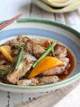 豚肉と彩野菜のポン酢南蛮