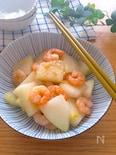 炒めた冬瓜の食感も好き♡冬瓜とむき海老の白だし生姜炒め