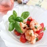 海老とフルーツトマトの塩麹マリネ