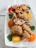 『鶏とれんこんの塩竜田揚げ』#むね肉#お弁当