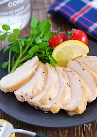 『サラダチキン風♡レモンペッパーチキン(鶏ハム)【#作り置き】』