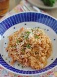レンジで作る超簡単なトマトチーズリゾット
