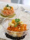 焼きヨーグルトとドライマンゴーの人参サラダ。
