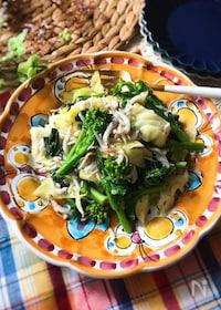 『『簡単おいしい♡』しらすと菜の花のアーリオオーリオ』