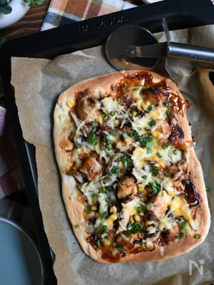 おうちでピザ屋さん♪照り焼きチキンピザ