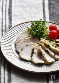 『【工程5分】セロリの葉deサラダチキン(冷凍保存・作り置き)』