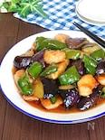 極ウマ!夏野菜で栄養満点♡鶏むね肉deなすピーマンの甘酢炒め