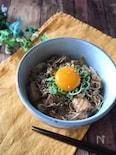 『サバ缶で簡単』サバときのこの味噌煮丼