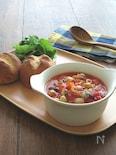 食べるスープ♪あさりと豆のミネストローネ