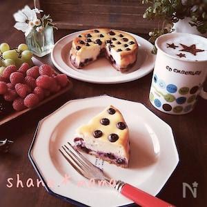 生クリームなし♪濃厚ブルーベリーチーズケーキ♪
