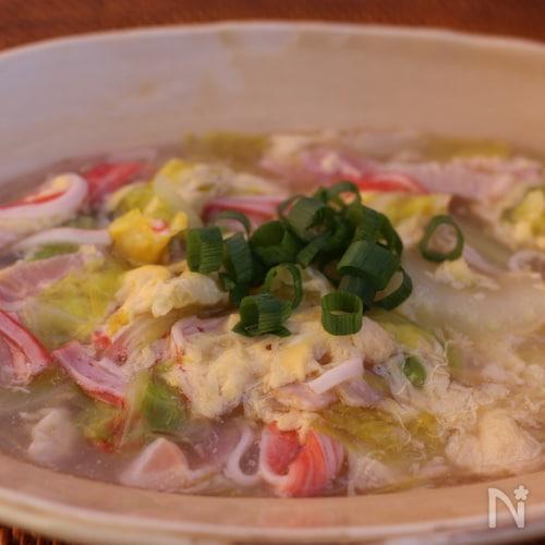 白菜としょうがたっぷりのぽかぽかスープ