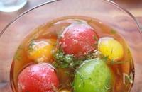 夏のあっさり副菜!ミニトマトと大葉の生姜めんつゆ浸し