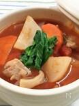 かぶと鶏肉のトマトスープ