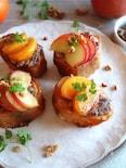 りんごと柿のクリームチーズあんフレンチトースト