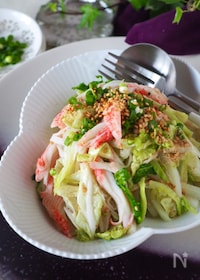 『【白菜無限ナムル】シャキッと白菜とカニかまのうま塩ナムル』