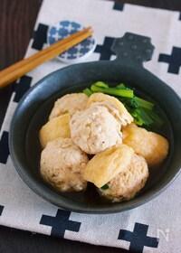 『旨味がじゅわ〜っ♪『鶏団子と小松菜のうま煮浸し』』