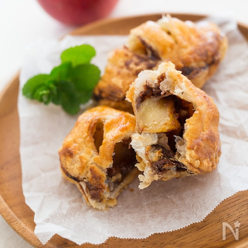 チョコカスタードのアップルパイ