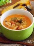 簡単!チキンとしめじのトマトクリームスープ