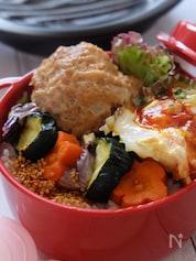 【15分弁当】ふっくら鳥のつくねと温野菜弁当