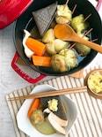 「白身魚のふんわり揚げ」と野菜の食べきり・生姜おでん