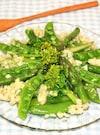 春野菜を食べよう♪スナップエンドウとアスパラのサラダ