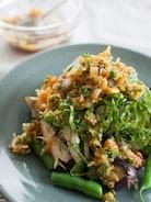 『なすと蒸し鶏の中華風ねぎだれ』#ボリュームおかず#夏野菜
