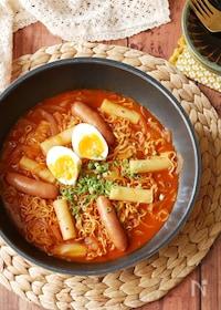 『『インスタント乾麺で⭐︎』本格♡甘辛ラッポッキ』