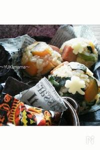 〜スパムとかぼちゃのおかか醤油おにぎり〜