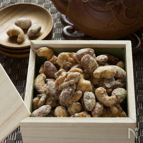 5分おやつ黒蜜きなこナッツ【モバイルおやつ】