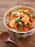鶏胸肉のケチャップ炒め丼♪チキンライスの具で簡単!こどもご飯