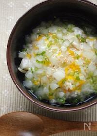 『簡単なのにお上品♪菊花と塩鯖ごはんのとろとろカブあんかけ丼』