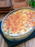 ホワイトソース缶で簡単!*牡蠣と舞茸とほうれん草のグラタン*