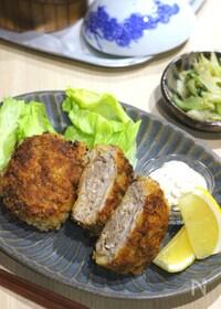 『切り落とし肉を丸めてフライパン調理♪ミルフィーユカツ風』