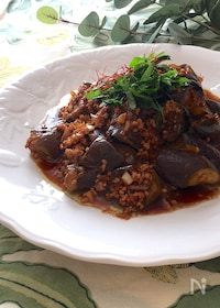 『なすの赤味噌挽肉バルサミコ炒め』